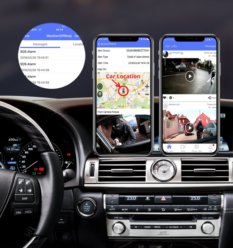 thiết bị gửi báo động - cảnh báo khi xe bị mất trộm hoặc có rung động mạnh