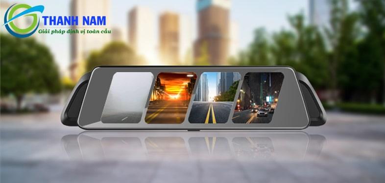 camera hành trình vietmap p2 màn hình gương tràn viền rộng 10 inch
