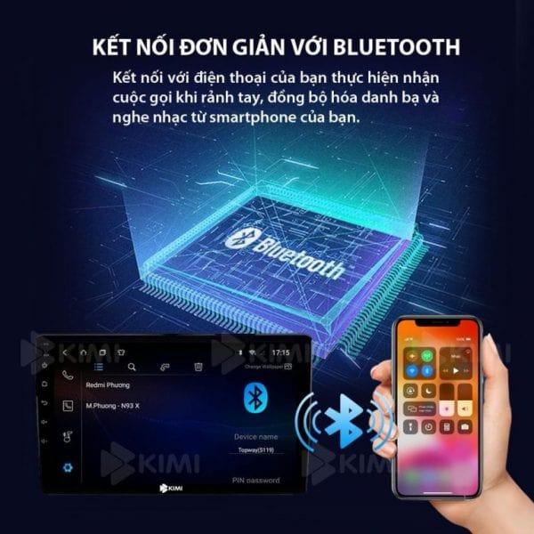 đàm thoại rảnh tay lái xe an toàn bằng màn hình dvd kimi k1