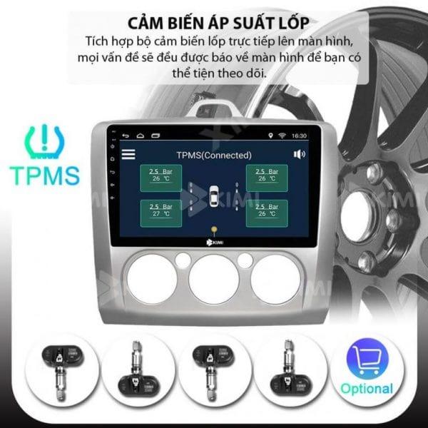 thiết bị còn tích hợp với cảm biến áp suất lốp, camera lùi, camera hành trình
