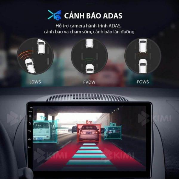 lái xe an toàn với hệ thống cảnh báo adas có trên màn hình dvd của ô tô