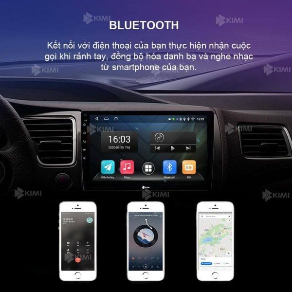 màn hình dvd android kimi k2 cho ô tô hỗ trợ bluetooth đàm thoại rảnh tay