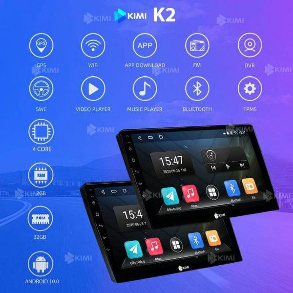 các tính năng của màn hình dvd kimi k2