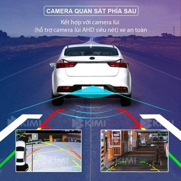 camera lùi được tích hợp với màn hình dvd của xe giúp bạn dễ dàng quan sát