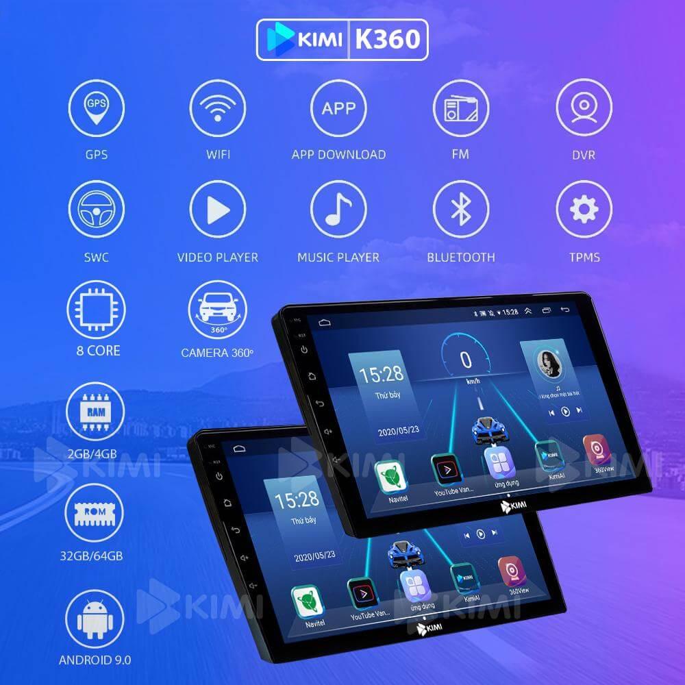 màn hình dvd android đa tính năng cho ô tô