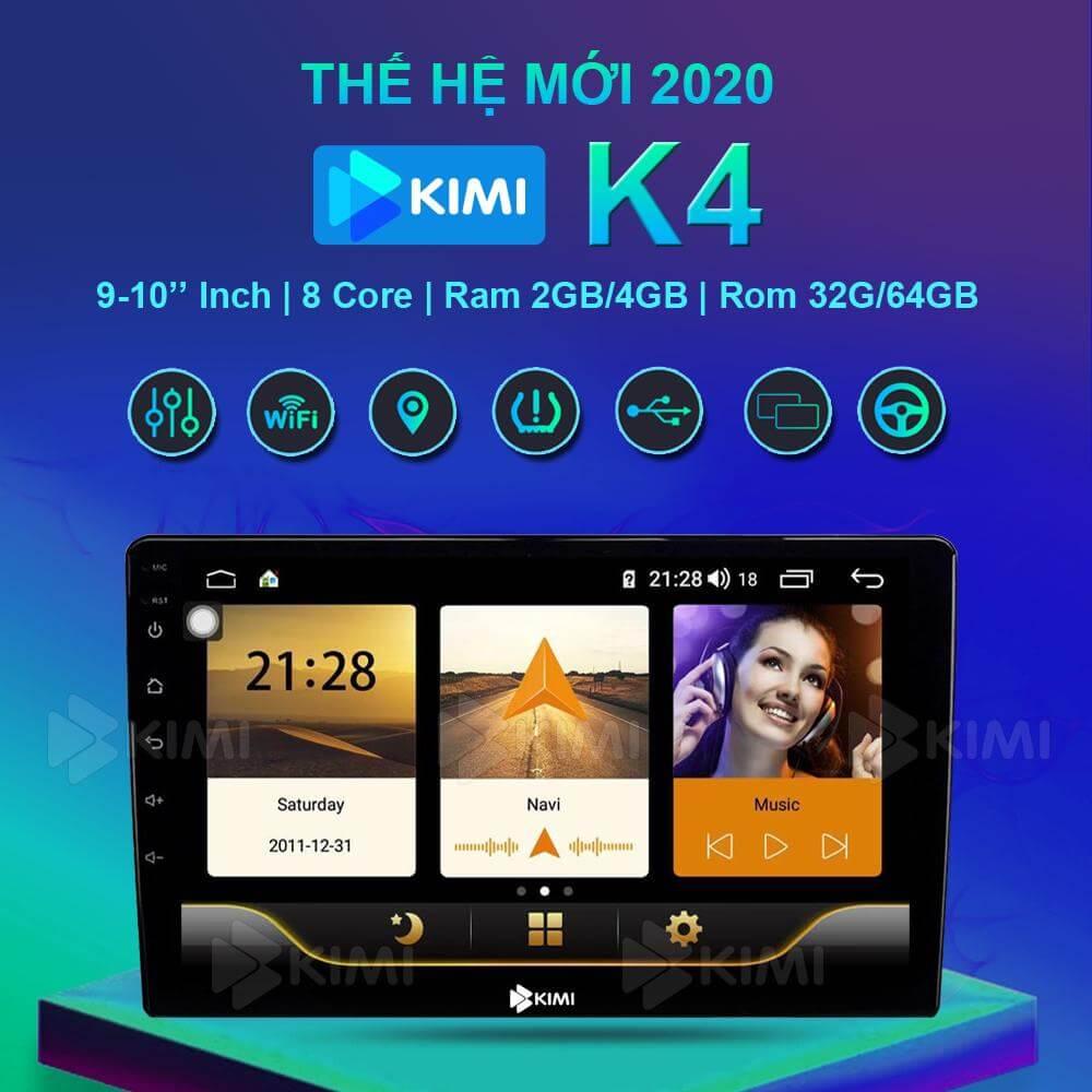 màn hình ô tô dvd android kimi k4 đa tính năng