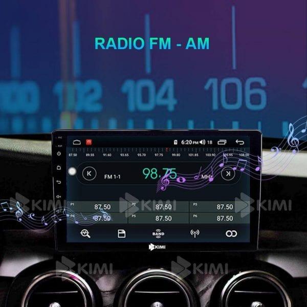 nghe fm cập nhật tin tức nhanh chóng bằng màn hinh dvd trên xe hơi