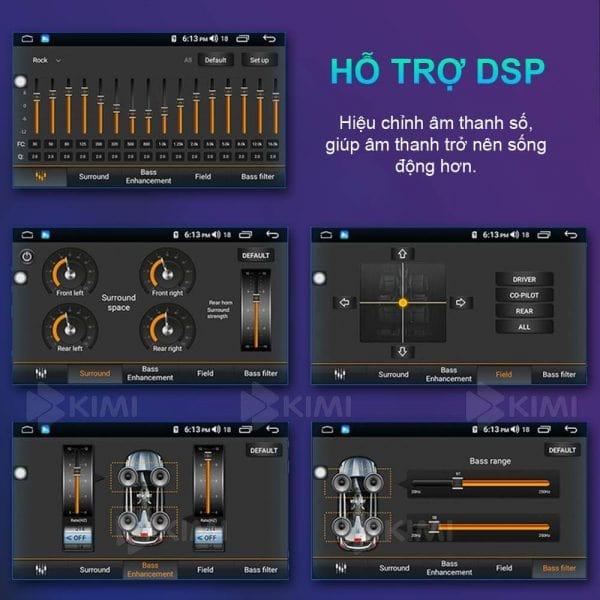 bộ xử lý âm thanh dsp giúp màn hình dvd android kimi k4 có khả năng truyền tải âm thanh rõ ràng, hay hơn