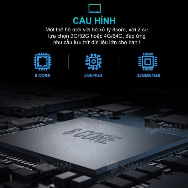 màn hình xe hơi kimi k4 có cấu hình khủng, bộ nhớ dung lượng lớn