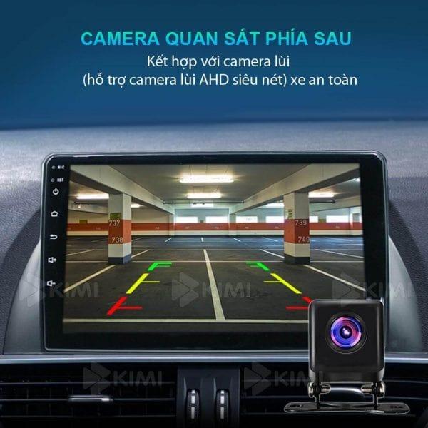 dễ dàng tích hợp camera hành trình, camera lùi với màn hình dvd của xe