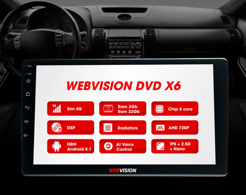 webvision x6 là một chiếc màn hình dvd đa tính năng