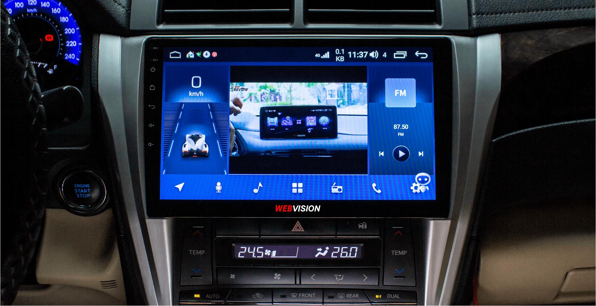 lắp đặt màn hình dvd android webvision chính hãng tại thành nam gps