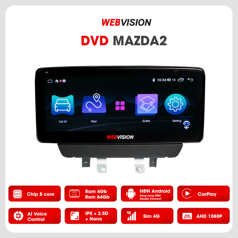 màn hình dvd dành riêng cho xe mazda 2