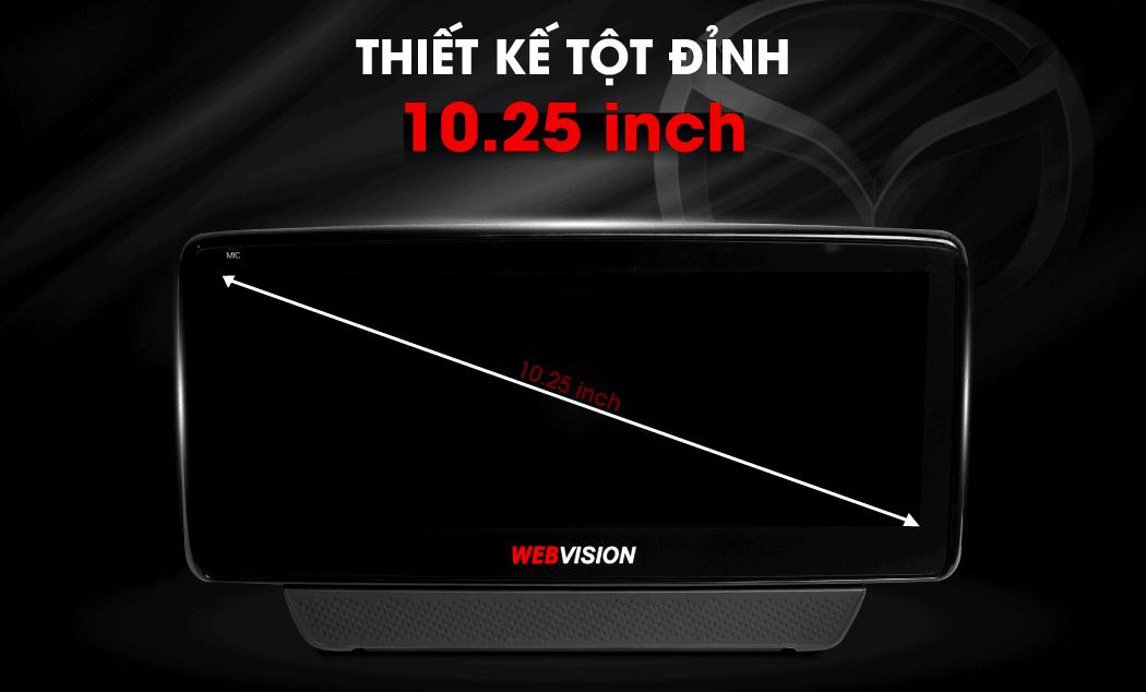 màn hình dvd của webvision mazda 2 rộng 10.25 inch - cảm ứng đa điểm
