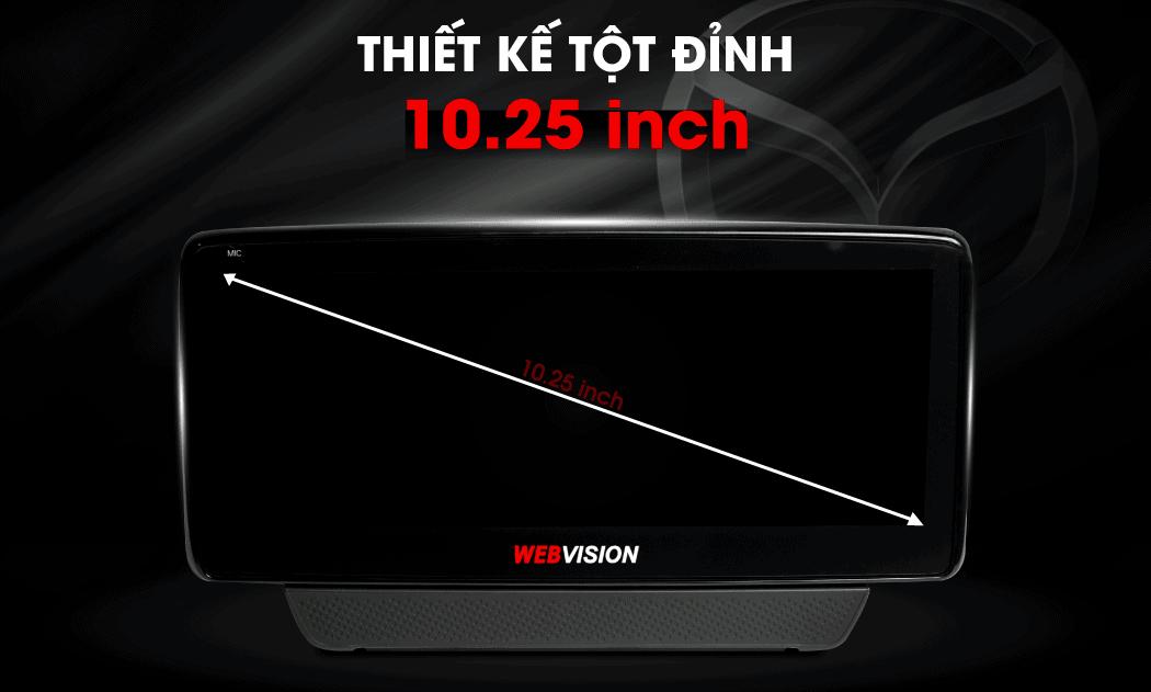 màn hình của webvision mazda 6 rộng tới 10.25 inch