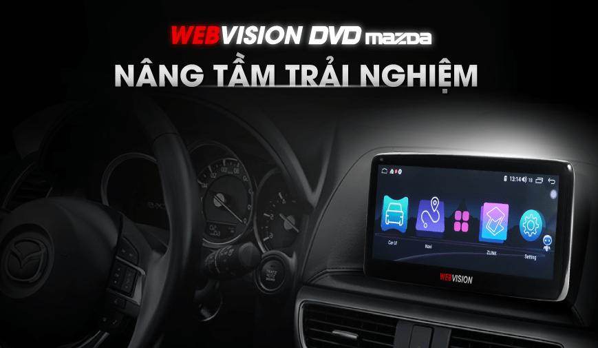 thiết kế thanh lịch và sang trọng của màn hình dvd webvision mazda 6