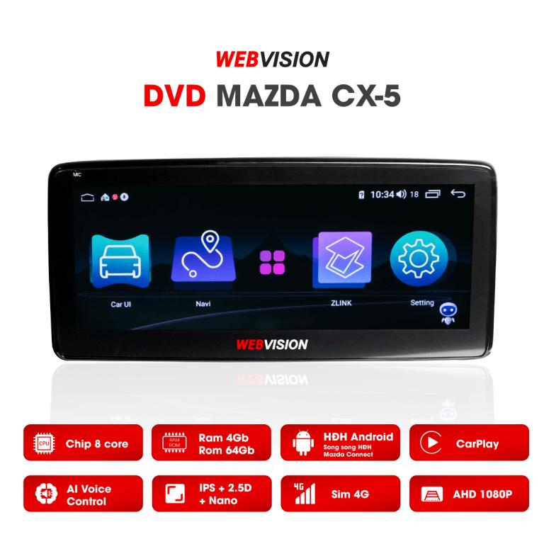 màn hình ô tô dvd mazda cx5 chính hãng đa năng