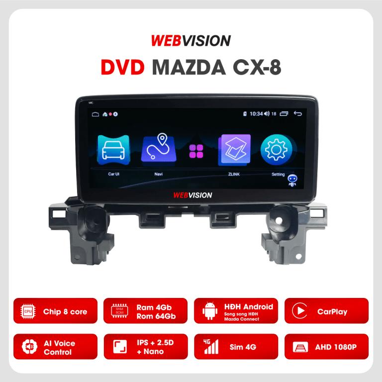 màn hình dvd webvision đa tính năng cho xe mazda cx8