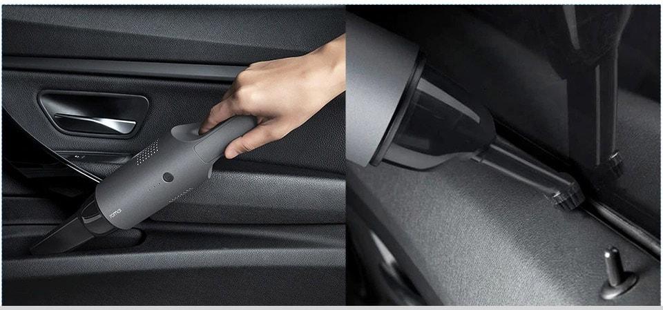 70mai vacuum có thể làm sạch mọi vị trí trên xe hơi của bạn