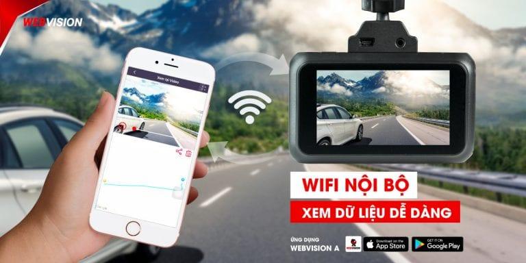 kết nối wifi giúp xem dữ liệu trên camera hành trình dễ dàng