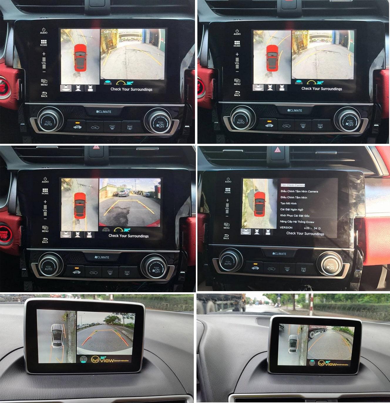 camera 360 độ oview kết nối với màn hình dvd ô tô