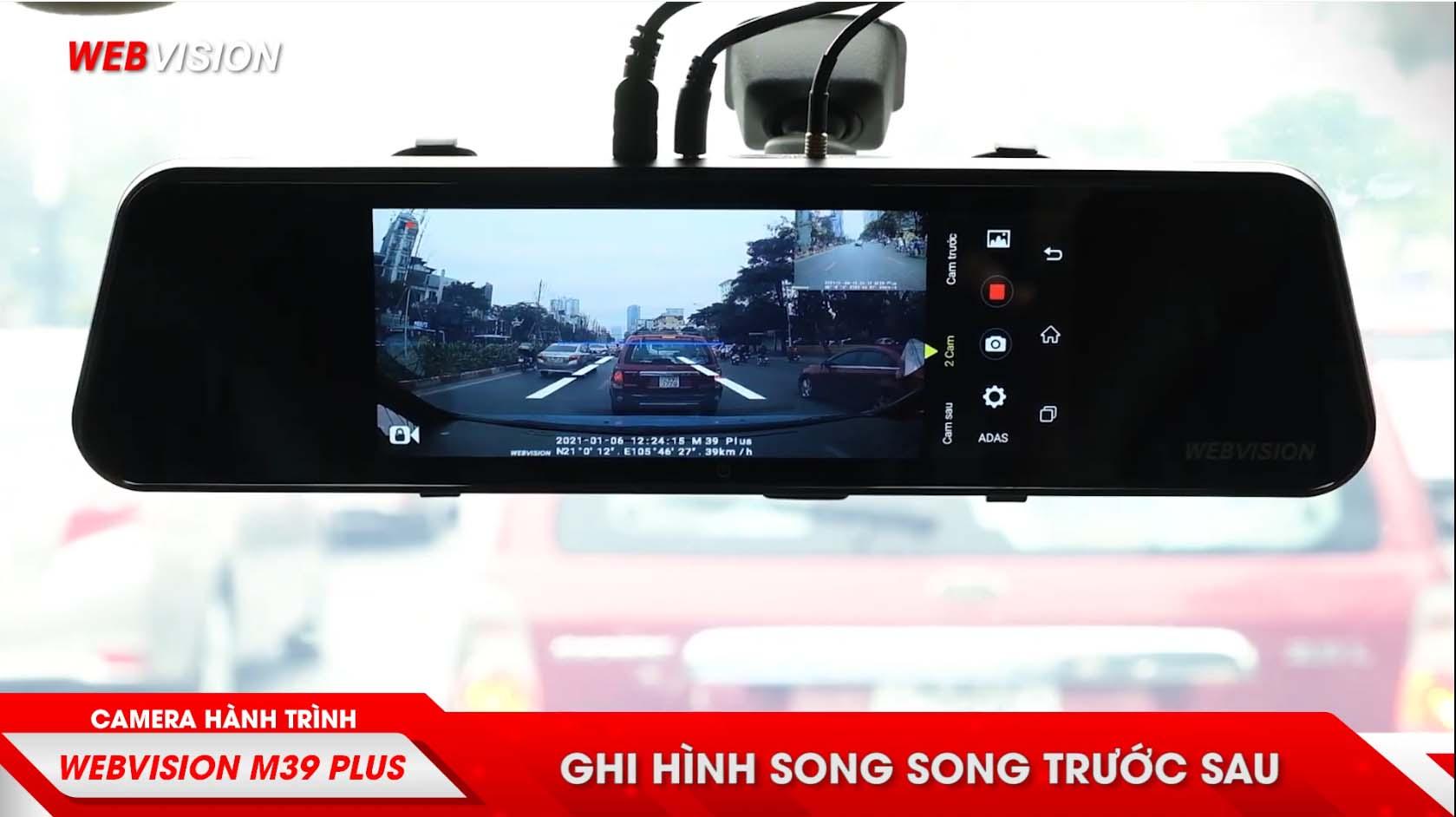 camera hành trình ghi hình full hd trước và sau xe