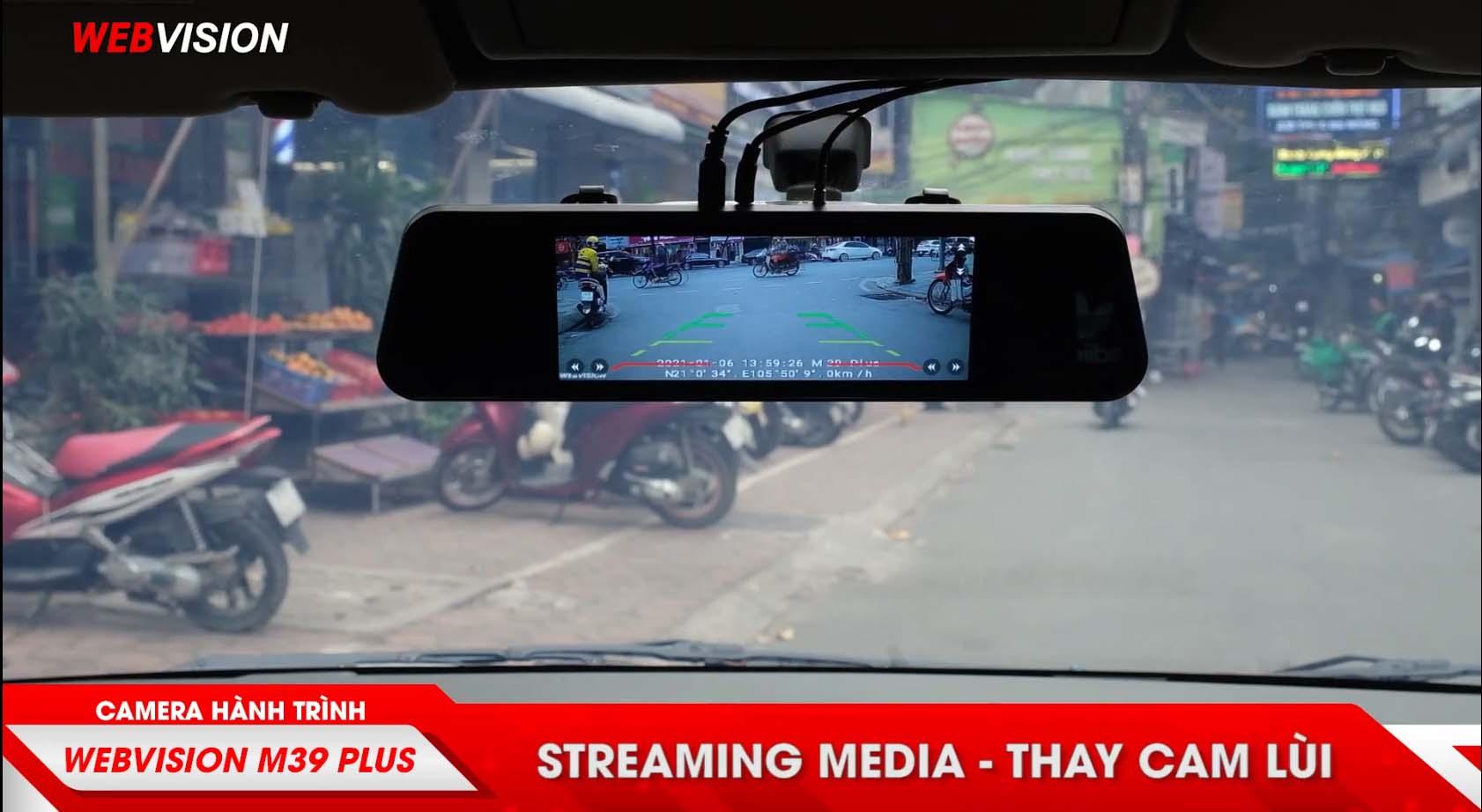 camera lùi chia vạch khoảng cách của webvision m39 plus