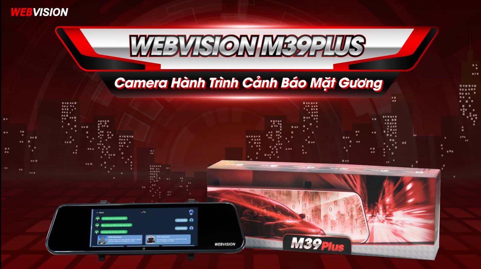 camera hành trình gương webvision m39 plus