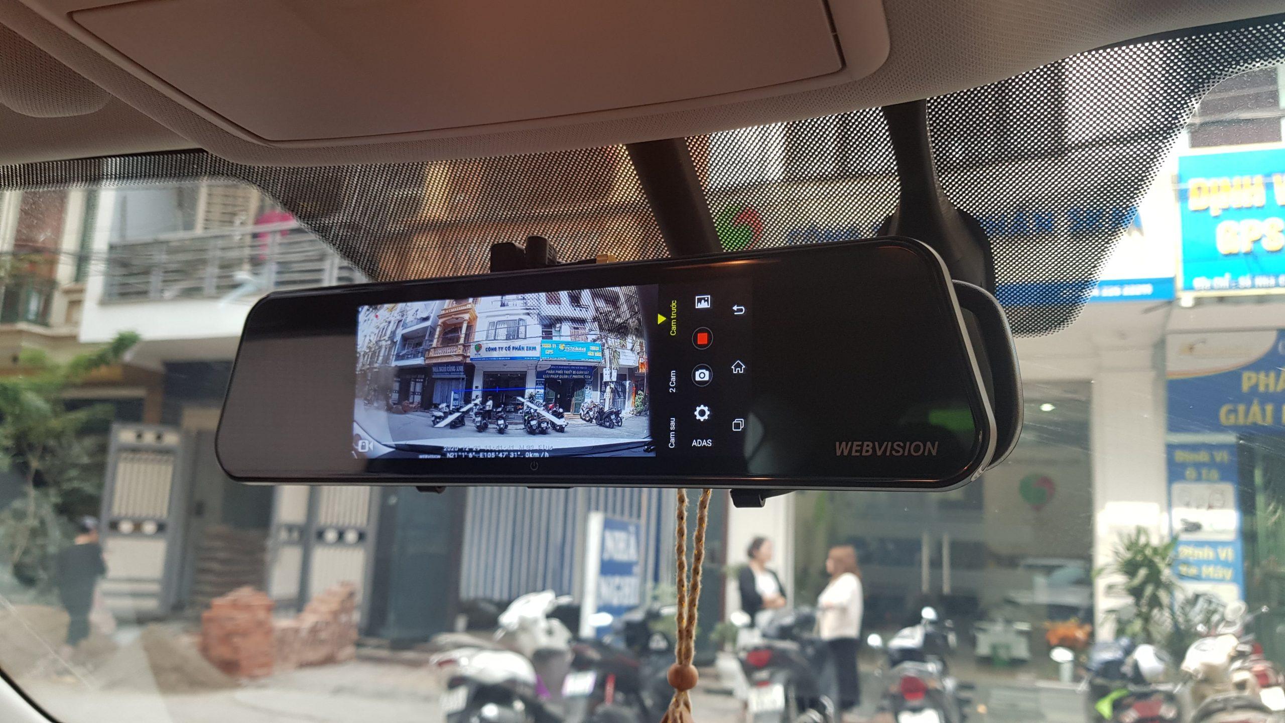 lắp đặt camera hành trình ô tô webvision m39 plus chính hãng