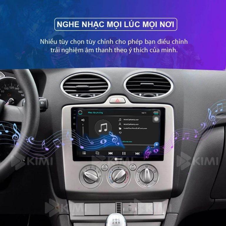 nghe nhạc siêu hay với màn hình ô tô kimi k3