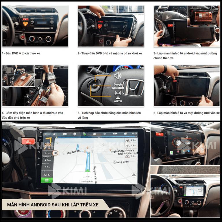 cách lắp đặt màn hình dvd android ô tô kimi
