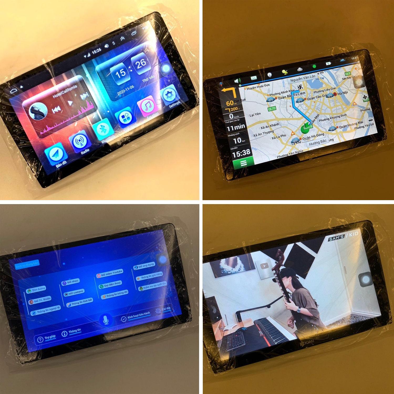 hình ảnh thực tế của màn hình ô tô dvd android kimi k3