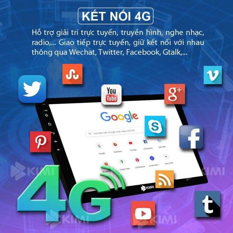 màn hình dvd kết nối 4g giải trí trực tuyến
