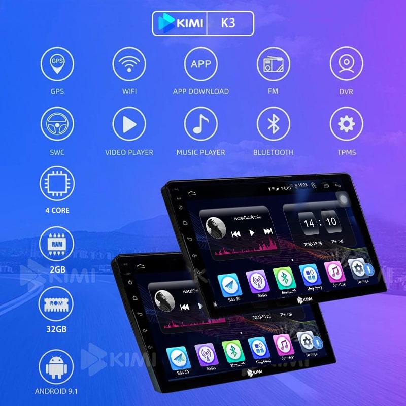 màn hình dvd android kimi k3 pro