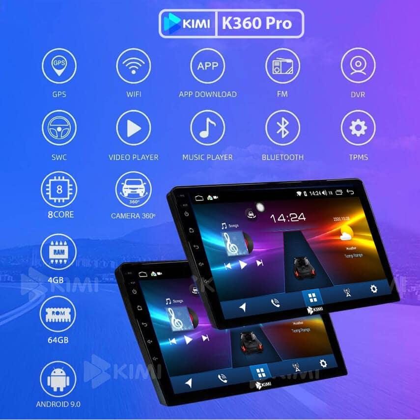 Màn hình DVD android kimi k360 pro