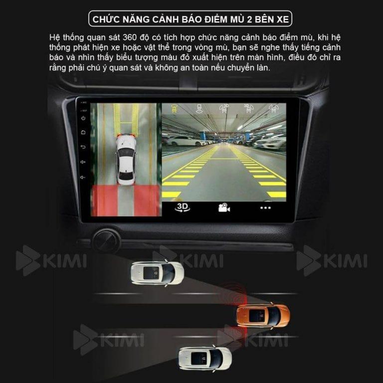 hạn chế điểm mù khi trang bị màn hình dvd kimi k360 pro