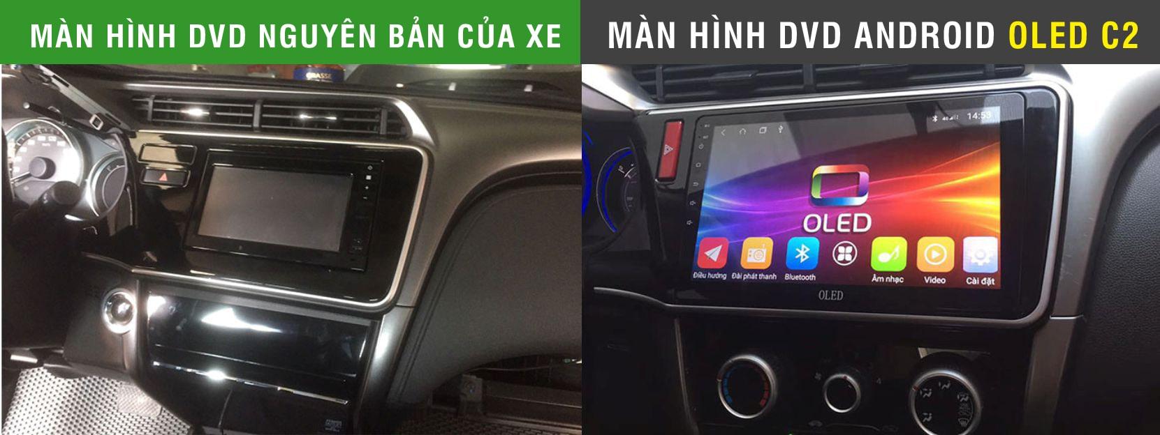 màn hình dvd android oled c2 cho ô tô