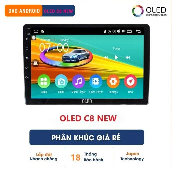 màn hình dvd ô tô android oled c8 new