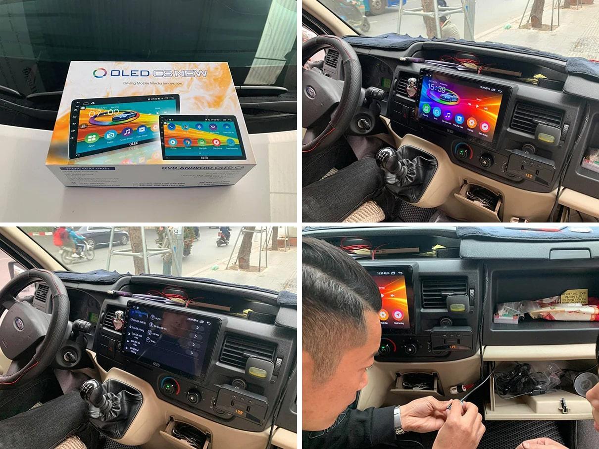 lắp đặt màn hình ô tô dvd android oled c8 new chính hãng