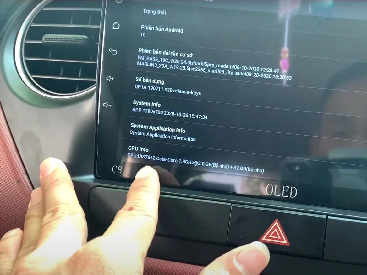 màn hình dvd android cấu hình khủng