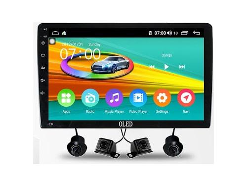 màn hình ô tô dvd android oled c8s new liền camera 360