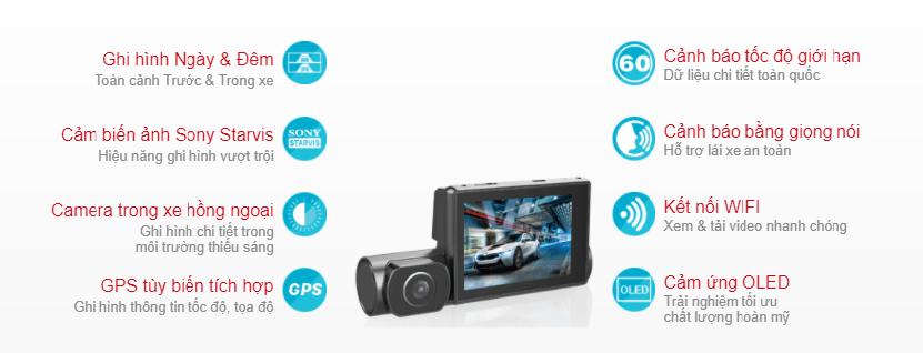 camera hành trình đa tính năng