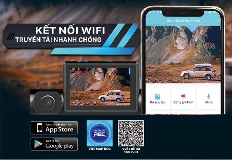 kết nối wifi truyền dữ liệu không dây với vietmap r1