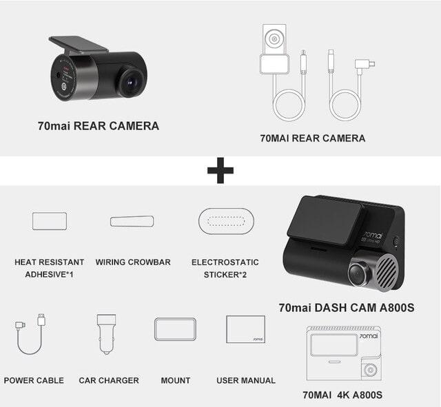 trọn bộ camera hành trình xiaomi 70mai a800s chính hãng
