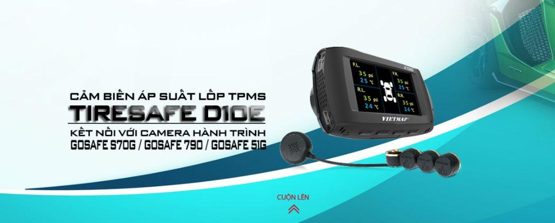 cảm biến áp suất lốp papago tiresafe d10e van ngoài tích hợp camera hành trình