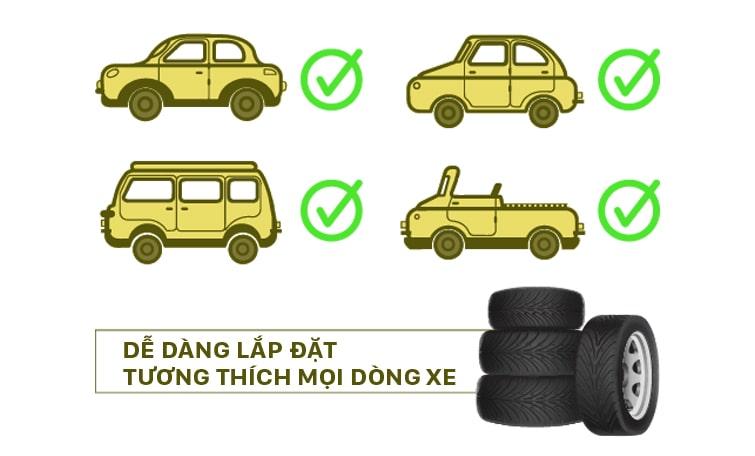lắp đặt cảm biến áp suất lốp papago đơn giản, an toàn