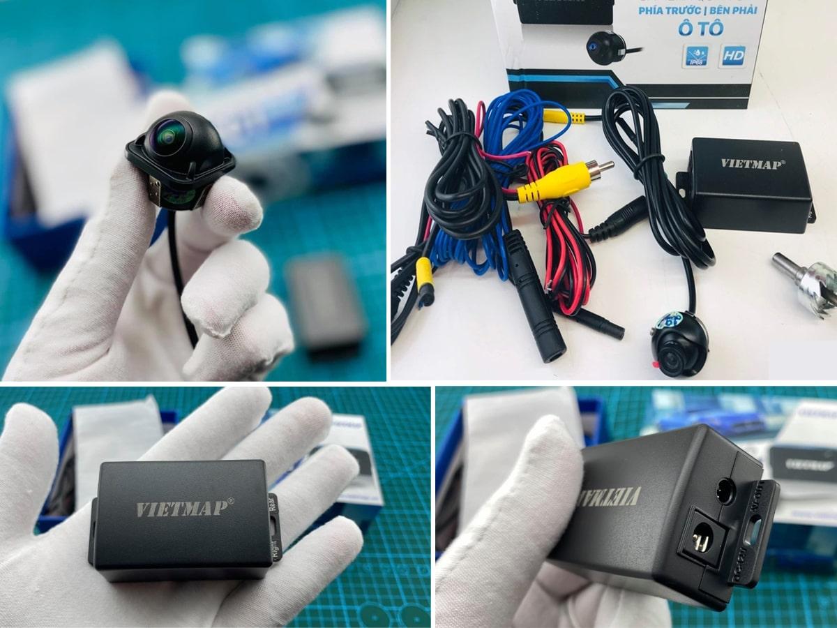 lắp đặt camera cập lề vietmap rc01 chính hãng tại thành nam gps