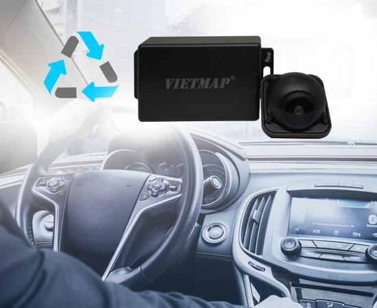 camera hành trình vietmap rc01 hoạt động đồng bộ theo hệ thống xe