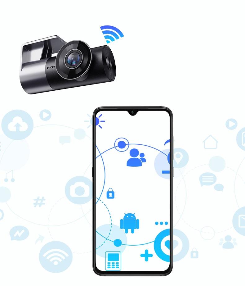 camera giám sát hành trình xe w2s carcam wifi