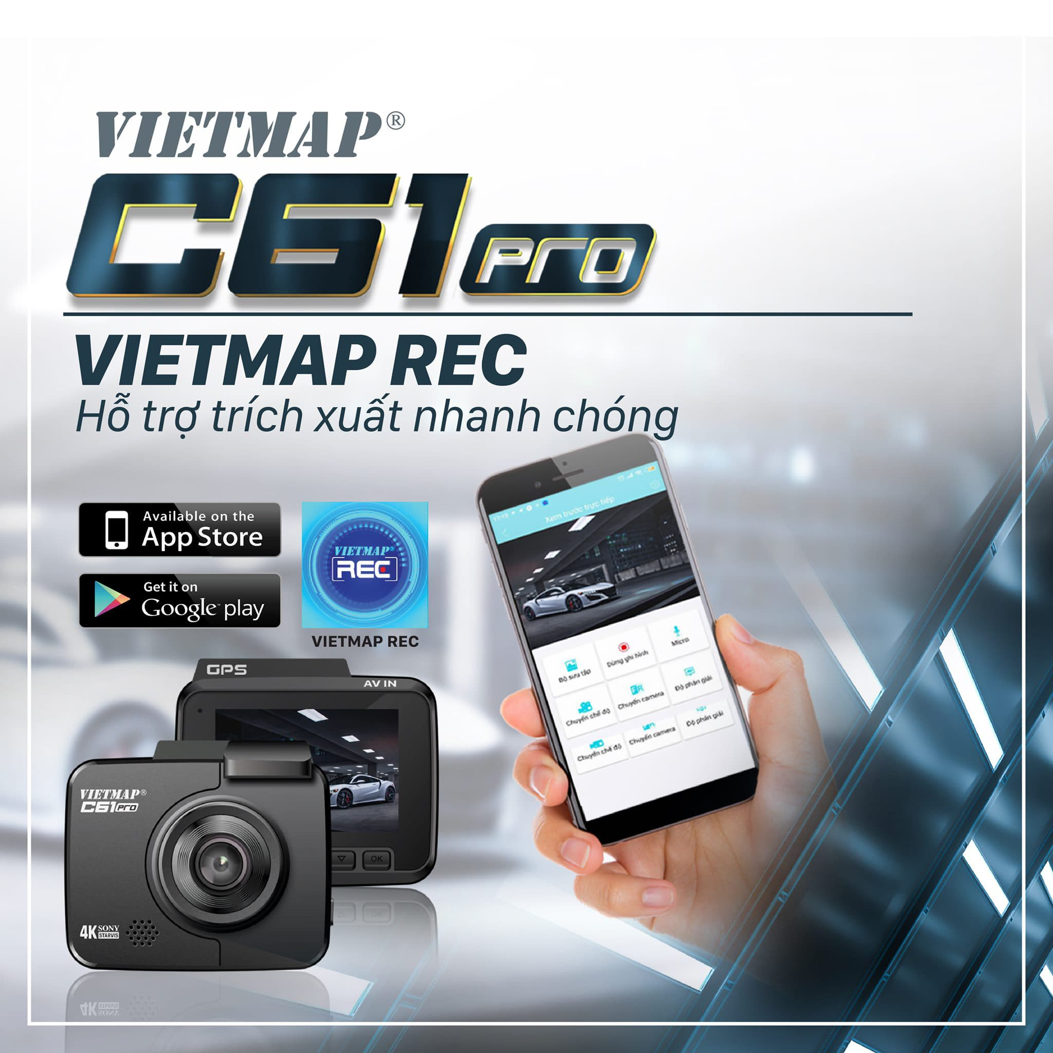 vietmap c61 pro kết nối wifi, gps